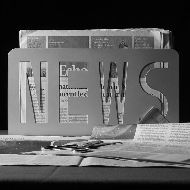 zprávy v novinách