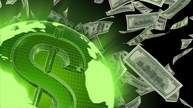 létání dolarů